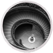 Vatican Stairs Round Beach Towel