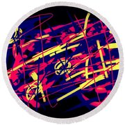 Vegas Delight Round Beach Towel