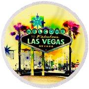 Vegas Weekends Round Beach Towel