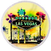 Vegas Weekends Round Beach Towel