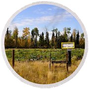 Round Beach Towel featuring the photograph Vegetables For Sale by Cathy Mahnke