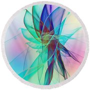 Veildance Series 2 Round Beach Towel by Klara Acel