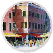 Venetian Piazza Round Beach Towel