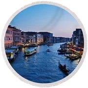 Venezia - Il Gran Canale Round Beach Towel