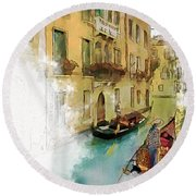 Venice 1 Round Beach Towel