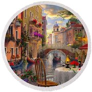 Venice Al Fresco Round Beach Towel