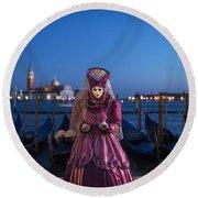 Venice Carnival '15 V Round Beach Towel
