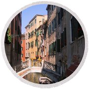 Venice Round Beach Towel by Dany Lison