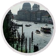 Venice Grand Canale Italy Summer Round Beach Towel
