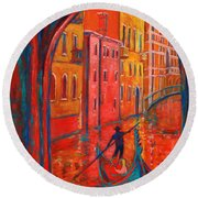 Venice Impression Viii Round Beach Towel