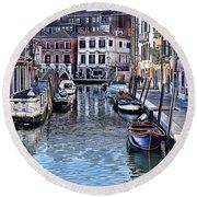 Venice Italy Iv Round Beach Towel