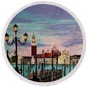 Venice  Italy By Jasna Gopic Round Beach Towel