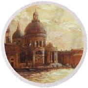 Venice - Santa Maria Della Salute Round Beach Towel