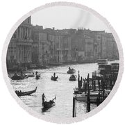 Venice Grand Canal Round Beach Towel by Silvia Bruno