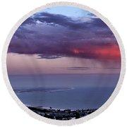 Round Beach Towel featuring the photograph Ventura Beach by Michael Gordon