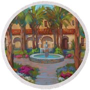 Ventura Mission Round Beach Towel