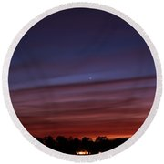 Venus And Mercury Round Beach Towel
