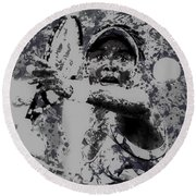 Venus Williams Paint Splatter 2e Round Beach Towel by Brian Reaves