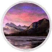 Vermilion Photo Art Round Beach Towel