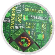 Very Irish Round Beach Towel