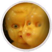 Very Scary Doll Round Beach Towel by Lynn Sprowl