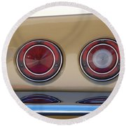 Vette Lights Round Beach Towel by Rob Hans