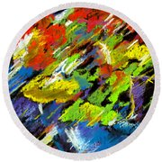 Colorful Impressions Round Beach Towel