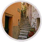 Vicolo Della Valle Riomaggiore Italy Dsc02537  Round Beach Towel
