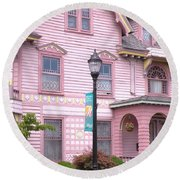 Victorian Pink House - Milford Delaware Round Beach Towel