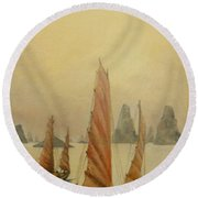 Vietnam Round Beach Towel