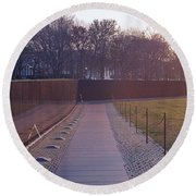 Vietnam Veterans Memorial At Sunrise Round Beach Towel
