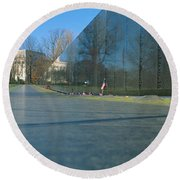 Vietnam Veterans Memorial, Washington Dc Round Beach Towel