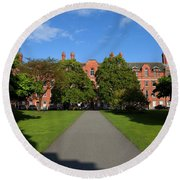 View Across Library Square Round Beach Towel