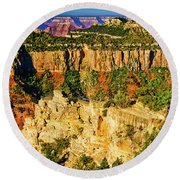 Round Beach Towel featuring the photograph View From Angel Point  by Bob and Nadine Johnston