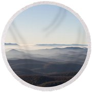 View From Blood Mountain Round Beach Towel by Paul Rebmann
