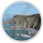 Higher Sharpnose Point Round Beach Towel by Richard Brookes