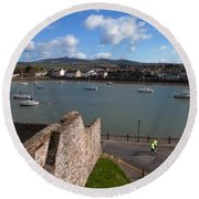View From King Johns Castle, Dungarvan Round Beach Towel