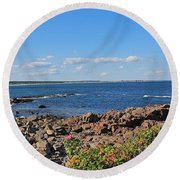 View From Marginal Way Ogunquit Maine 3 Round Beach Towel