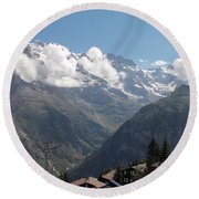 View From Murren Round Beach Towel