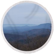 View From Springer Mountain Round Beach Towel