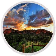View From The Fence  Round Beach Towel by Saija  Lehtonen
