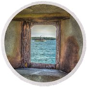 View From The Fort Round Beach Towel by Jane Luxton