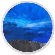 View From The Ridge Round Beach Towel