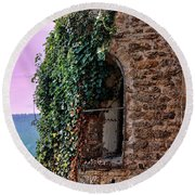 Round Beach Towel featuring the photograph View From The Top Bordeaux France by Tom Prendergast