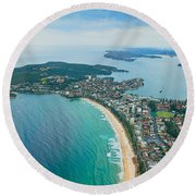 Round Beach Towel featuring the photograph View by Miroslava Jurcik