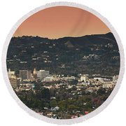 View Of Buildings In City, Beverly Round Beach Towel by Panoramic Images