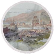 View Of Florence Round Beach Towel
