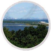 View Of New York City IIi Round Beach Towel
