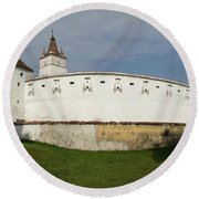View Of Prejmer Fortified Church Round Beach Towel