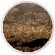 View Of Quito From The Teleferiqo Round Beach Towel by Eleanor Abramson